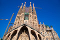 Barcelona Sagrada Familia cathedral by Gaudi Stock Image