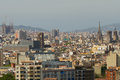 Barcelona seen from Montjuic Stock Images