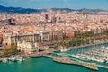 Barcelona skyline Royalty Free Stock Photo