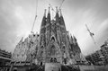 Barcelona spain february la sagrada familia impressive cathedral designed gaudi which being build march not finished february Stock Photos