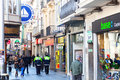 Barcelona spain february shopping street badalona february barcelona spain city was founded romans rd century bc population census Stock Photo