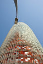 Barcelona spain march agbar tower designed jean nouvel march Stock Photography