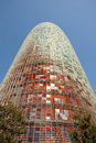 Barcelona spain march agbar tower designed by jean nouvel on march Stock Photo