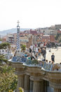 Barcelona spain march park guell visitors barcelona catalonia spain march Stock Photography