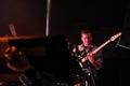 Barcelona spain nov ian williams guitarist john stanier drummer and dave konopka guitarist members of battles band performs at Royalty Free Stock Photo