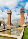 Barcelona spain september view venetian tower espanya square barcelona september more than million visitors were barcelona Stock Image
