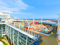Barcelona, Spaine - September 06, 2015: Royal Caribbean, Allure of the Seas Royalty Free Stock Photo