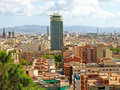 Barcelona view Royalty Free Stock Photos