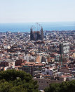 Barcelona, view from the mountain Stock Image