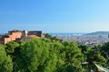 Barcelona view from park güell nice in an autumn sunny day Stock Image