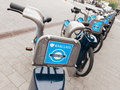 Barclays cycle hire docking station london uk circa may in south kensington Royalty Free Stock Photography