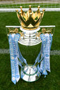 Barclays english premier league football trophy definitely one of the most prestigious professional leagues in the world of Stock Images