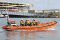 Barco salva vidas inflável de rnli Foto de Stock Royalty Free
