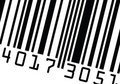 Barcode close up vector Royalty Free Stock Image