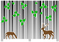 Barcode forest vector illustration of a on white Royalty Free Stock Photography