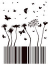 Barcode garden Royalty Free Stock Photos
