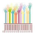 Barcode With Hands
