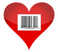 Barcode heart illustration design Royalty Free Stock Image