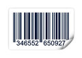 Barcode illustration of isolated on white background also available as scalable format Stock Photography