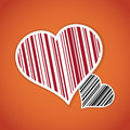 Barcode image with heart symbol Royalty Free Stock Photos