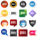 Barcode Label Set Stock Photography