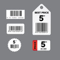 Barcode label set Stock Photos