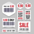 Barcode label tag sale Royalty Free Stock Photo