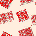 Barcode and qr-code. Seamless vector wallpaper. Royalty Free Stock Image