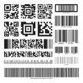 Barcode and QR code set Royalty Free Stock Photo