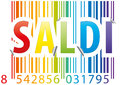 Barcode saldi sticker Stock Photo