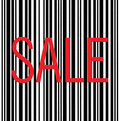 Barcode and Sale Text Macro Closeup Isolated Royalty Free Stock Photo