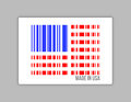 Barcode usa gjort i usa illustrationdesign Arkivbilder