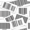 Barcodes monochrome seamless background Royalty Free Stock Photo