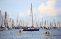 Barcolana regatta in Trieste Stock Photos