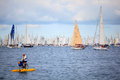 Barcolana regatta in Trieste Royalty Free Stock Photo
