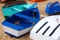 Barcos coloreados Imágenes de archivo libres de regalías