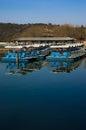 Barcos em ordem no palácio de verão Foto de Stock Royalty Free