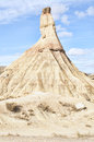 Bardenas reales natural park navarre spain castildetierra the most famous hill called cabezo of a semi desert region located in Stock Photos
