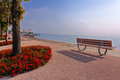 Bardolino ppromenade picteresque view from promenade at lake garda Royalty Free Stock Photos