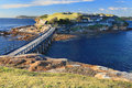 Bare island botany bay sydney boardwalk bridge to near australia abundant marine life and underwater reefs caves canyons make it Royalty Free Stock Photography