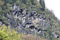 Bare steep escarpment location siguniang mountain national geological park xiaojin aba sichuan china Stock Photos