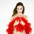 Bare woman with boa. Stock Images
