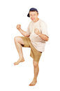 Barefoot dancing man on vacation Stock Photography