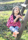 Barefoot girl singing Royalty Free Stock Photo