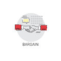 Bargain Hand Shake Agreement Icon Business Concept