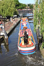Barge at the Camden Lock Stock Photo