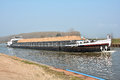 Barge on the mittelland canal in magdeburg Royalty Free Stock Photography