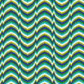 Bargello a x inch needlepoint pattern in blue turquoise and green Stock Photography