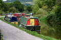Barges On River Avon UK