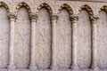Barilefy architectural elements arches,Cathedral Notre-Dame de Paris - Built in French Gothic architecture Royalty Free Stock Photo